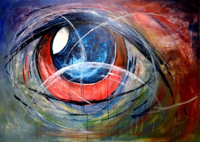 Auge Kunst Ruedi Keller