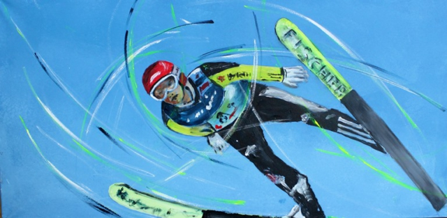 Sportbilder Skispringen Ruedi Keller