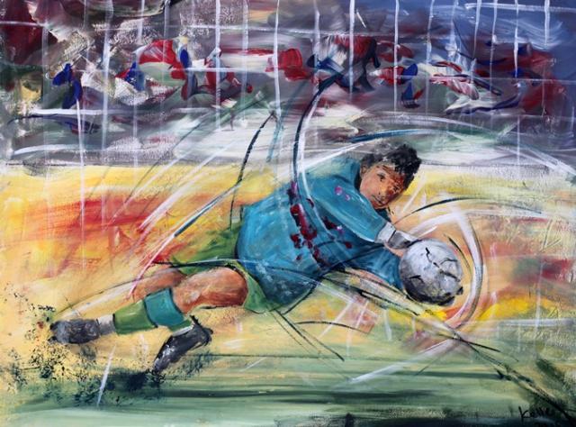 Sportbilder Fussball Torwart Ruedi Keller